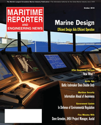 Maritime Reporter Magazine Cover Oct 2010 - Marine Design Annual