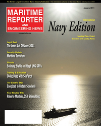 Maritime Reporter Magazine Cover Jan 2011 - International Naval Technology