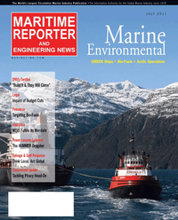 Maritime Reporter Magazine Cover Jul 2011 - The Green Ship Edition