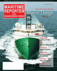 Maritime Reporter Magazine Cover Oct 2011 - Marine Design Annual