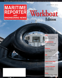 Maritime Reporter Magazine Cover Nov 2011 - Feature: Workboat Annual