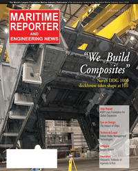 Maritime Reporter Magazine Cover Jan 2012 - US Navy Report