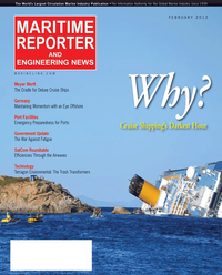 Maritime Reporter Magazine Cover Feb 2012 - Cruise Shipping Annual