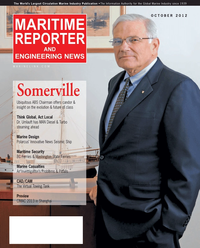 Maritime Reporter Magazine Cover Oct 2012 - Marine Design & Construction