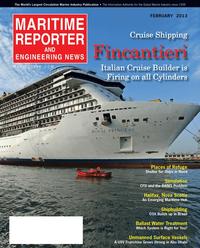 Maritime Reporter Magazine Cover Feb 2013 - Cruise & Passenger Vessel