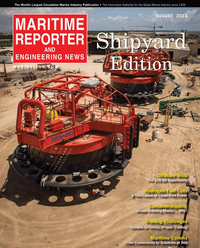 Maritime Reporter Magazine Cover Aug 2013 - Shipyard Edition