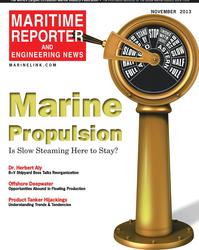 Maritime Reporter Magazine Cover Nov 2013 - Marine Propulsion Annual