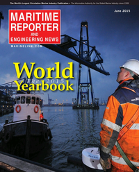 Maritime Reporter Magazine Cover Jun 2015 - Annual World Yearbook