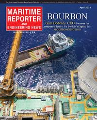 Maritime Reporter Magazine Cover Apr 2018 - Offshore Energy Annual
