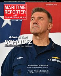 Maritime Reporter Magazine Cover Nov 2018 - Workboat Edition