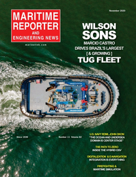 Maritime Reporter Magazine Cover Nov 2020 - Workboat Edition