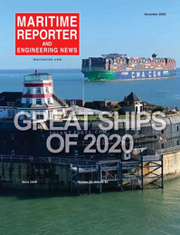 Maritime Reporter Magazine Cover Dec 2020 - Great Ships of 2020