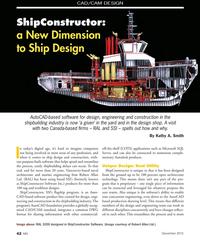 MN Dec-15#42 CAD/CAM DESIGN ShipConstructor:  a New Dimension  to Ship