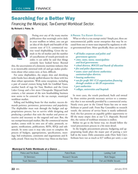 MN Jan-16#22 COLUMN FINANCE Searching for a Better Way  Financing the