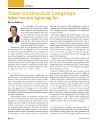 MN Nov-16#30 LEGAL Clear Contractual Language  What You Are Agreeing