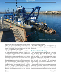 "MN Feb-17#38  16"" dredge with a hull-mounted  bush, MI, facility. Wetta adds"