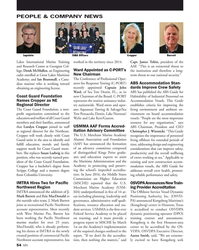 MN Mar-17#54 PEOPLE & COMPANY NEWS ISMA Of?  cers Cropper Lapointe