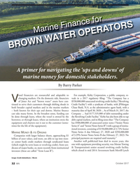 MN Oct-17#32 MARINE FINANCE Marine Finance for   BROWN WATER OPERATORS A