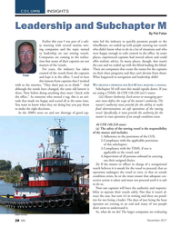 MN Nov-17#28  and Subchapter M   By Pat Folan Earlier this year