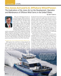 MN Feb-18#20 COLUMN LEGAL The Jones Act and U.S. Offshore Wind Power: