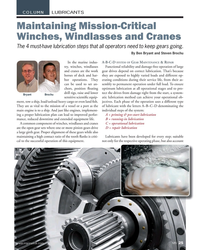 MN Feb-18#25 COLUMN LUBRICANTS Maintaining Mission-Critical  Winches