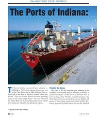 MN Feb-18#36  PORT DEVELOPMENT The Ports of Indiana:  he Ports of Indiana
