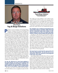 MN Mar-18#14  COI or the vessels stretching  Pat Folan past 2019. And, it's