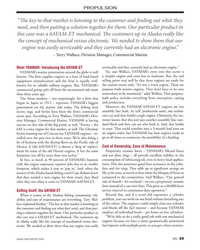 """MN Mar-18#39 PROPULSION """"T  e key to that market is listening to the customer"""