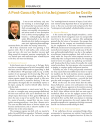 MN Jun-18#28 COLUMN INSURANCE A Post-Casualty Rush to Judgment Can be