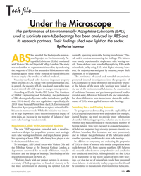 MN Jul-18#49 ech file T Under the Microscope The performance of Environme