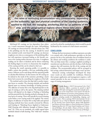 "MN Sep-18#44 WORKBOAT MAINTENANCE ""… the rates of biofouling accumulation"