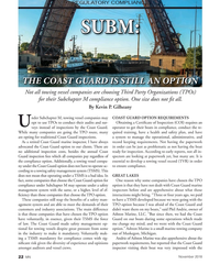 MN Nov-18#22   SUBM:  SUBM:   THE COAST GUARD IS STILL AN