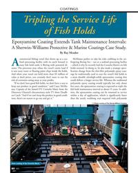MN Nov-18#80 COATINGS Tripling the Service Life  of Fish Holds Epoxyamine