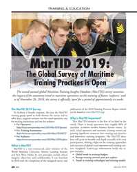 MN Jan-19#26 TRAINING & EDUCATION MarTID 2019:  The Global Survey of
