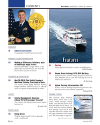 MN Jan-19#2 CONTENTS MarineNews  January 2019  •  Volume 30   Number