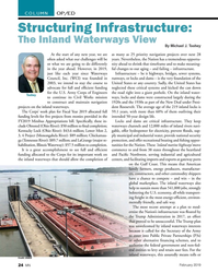 MN Feb-19#24  Infrastructure:   The Inland Waterways View  By