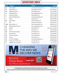 MN Feb-19#64 Advertiser index Page  Company     Website  Phone# 31