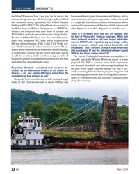 MN Mar-19#22 .  the Port of Pittsburgh's 'wireless waterway.' While that