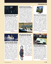 MN Apr-19#59 PRODUCTS Torqeedo Powers First Solar- Electric Sewage