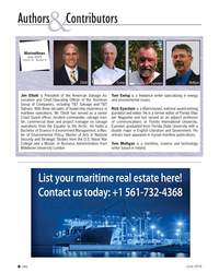 MN Jun-19#8 Authors   Contributors & MarineNews  June 2019 Volume 30