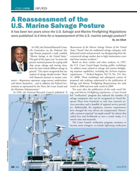 MN Jun-19#20 COLUMN OP/ED A Reassessment of the  U.S. Marine Salvage