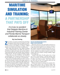 MN Jul-19#40  TRAINING MARITIME MARITIME  SIMULATION SIMULATION  AND TRAINING: