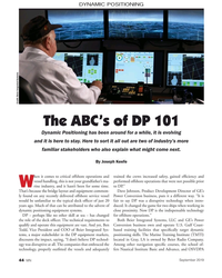 MN Sep-19#44 DYNAMIC POSITIONING Credit: Beier Inegrated Systems The
