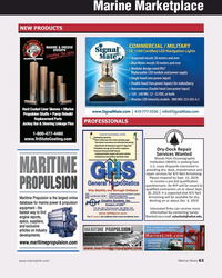 MN Sep-19#63 Marine Marketplace NEW PRODUCTS PROFESSIONALS Dry-Dock