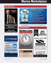 MN Nov-19#111 Marine Marketplace NEW PRODUCTS PROFESSIONALS  111 www.