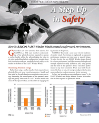 MN Nov-19#70 TECH FILE: DECK MACHINERY A Step Up  in Safety How NABRICO's