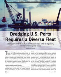 MN Nov-19#80 DOMESTIC DREDGING REPORT Dredging U.S. Ports  Requires a