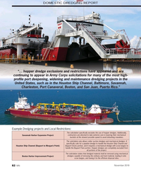 """MN Nov-19#82 DOMESTIC DREDGING REPORT """"… hopper dredge exclusions and"""
