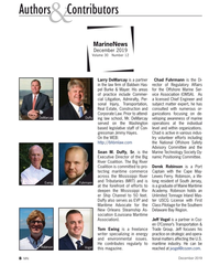 MN Dec-19#8 Authors   Contributors & MarineNews  December 2019 Volume