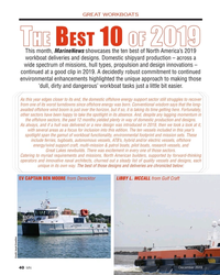 MN Dec-19#40 GREAT WORKBOATS T T   B  10   2019 2019HEHE EST OF OF This